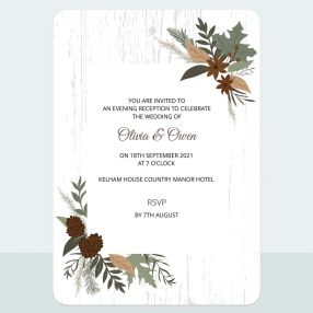 Woodland - Evening Invitation & Information Card Suite