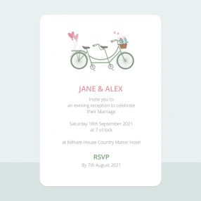 Sweet Tandem - Tri Fold Evening Invitation & Information Card Suite