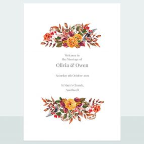 Autumn Bouquet - Order Of Service