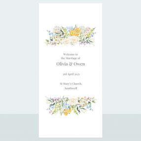 Spring Bouquet - Order Of Service Concertina