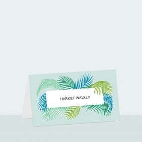 Tropical Fern - Place Card