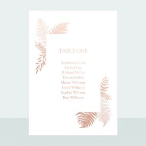 metallic-ferns-foil-table-plan-cards
