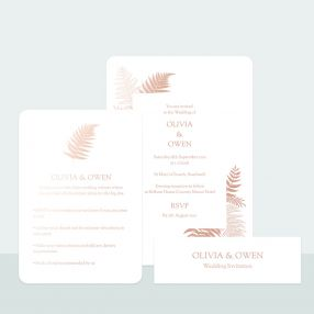 metallic-ferns-foil-wedding-invitation-rsvp-suite