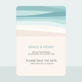 Abstract Beach - Save the Date Cards