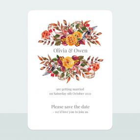 Autumn Bouquet - Save the Date Cards
