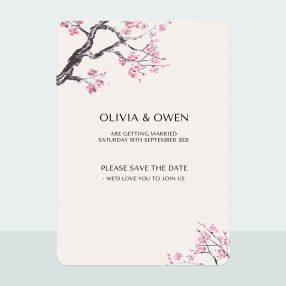 Cherry Blossom - Save the Date Cards