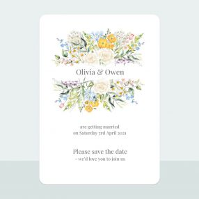 Spring Bouquet - Save the Date Cards