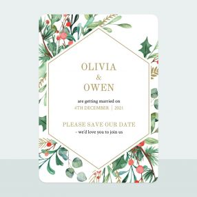 Winter Berry - Save the Date Cards
