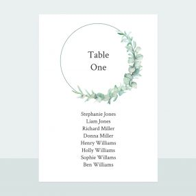 Greenery Garland - Table Plan Cards