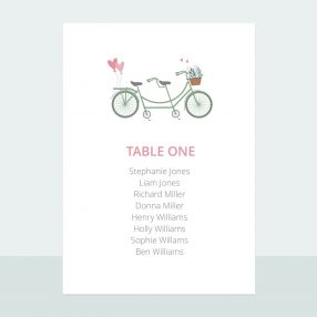 Sweet Tandem - Table Plan Cards
