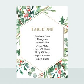 Winter Berry - Table Plan Cards