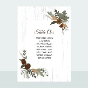 Woodland - Table Plan Cards