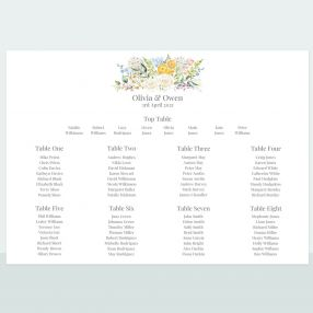Spring Bouquet - Table Plan