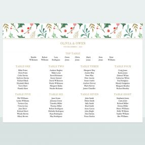 Winter Berry - Table Plan