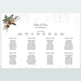 Woodland - Table Plan