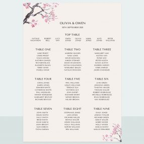 Cherry Blossom - Table Plan