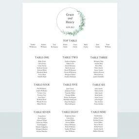 Greenery Garland - Table Plan