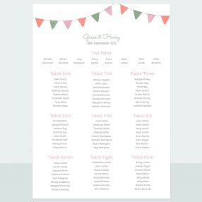 Rustic Bunting - Table Plan