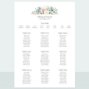 Summer Bouquet - Table Plan