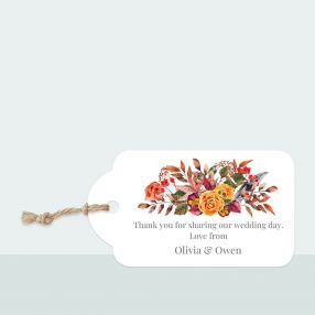 Autumn Bouquet - Favour Tag