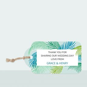 Tropical Fern - Favour Tag