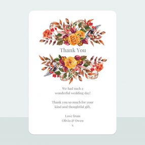 Autumn Bouquet - Thank You Card