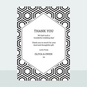 honeycomb-iridescent-thank-you-card