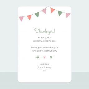 Rustic Bunting - Thank You Card