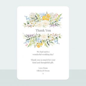 Spring Bouquet - Thank You Card