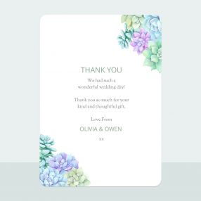 Succulents - Thank You Card