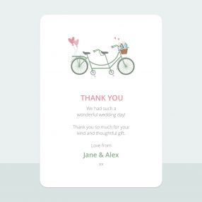 Sweet Tandem - Thank You Card