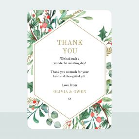 Winter Berry - Thank You Card