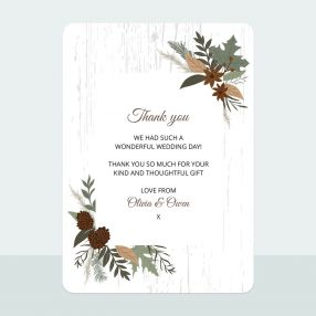Woodland - Thank You Card