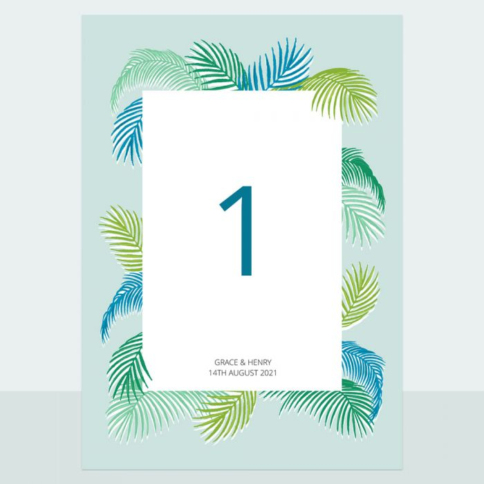tropical-fern-table-name-number