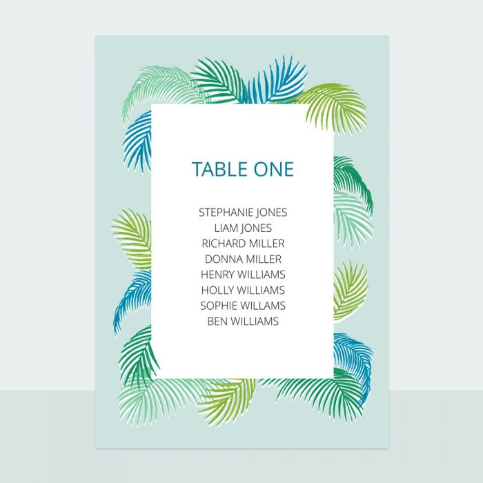tropical-fern-table-plan-cards