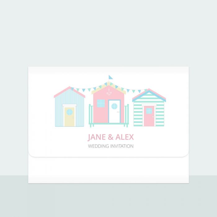 pastel-beach-huts-trifold-wedding-invitation-information-suite