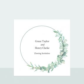 Greenery Garland - Evening Invitation