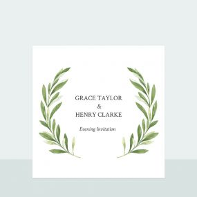 Olive Wreath - Evening Invitation