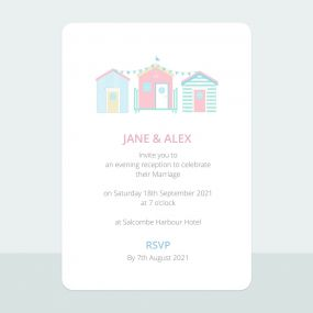 pastel-beach-huts-trifold-evening-invitation