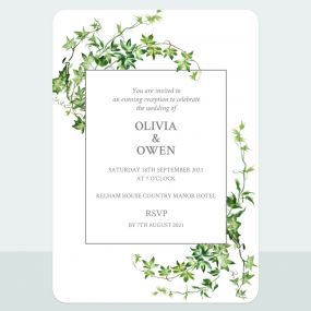 Ivy Garland - Evening Invitation & Information Card Suite