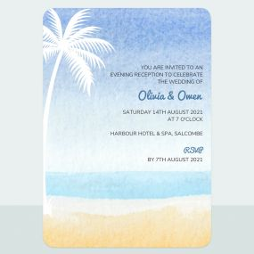 Palm Beach - Evening Invitation & Information Card Suite
