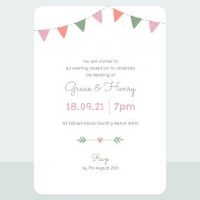 Rustic Bunting - Evening Invitation & Information Card Suite