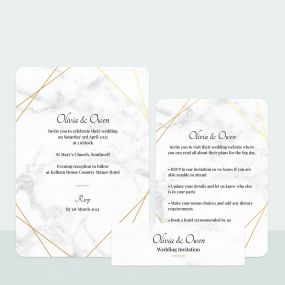 grey-marble-foil-wedding-invitation-information-suite