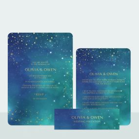 starry-night-foil-wedding-invitation-information-suite