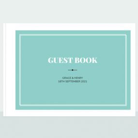 Chic Typography Wedding Guest Book thumbnail