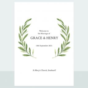 Olive Wreath - Order Of Service