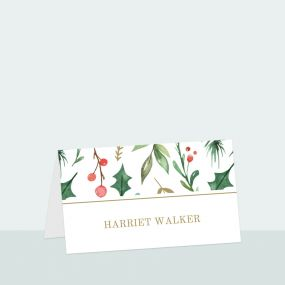 Winter Berry - Place Card
