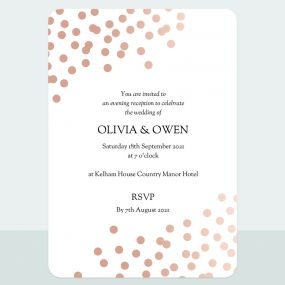 Confetti Sparkle - Foil Evening Invitation & Information Card Suite