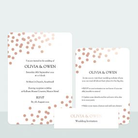 Confetti Sparkle - Foil Wedding Invitation & Information Card Suite