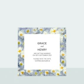 Daisy Border - Save the Date Cards